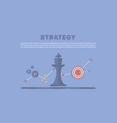 business and marketing strategy vector image vector image