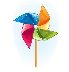 Cartoon windmill propeller vector