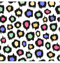Colorful leopard pattern seamless background for vector