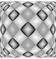 Design warped monochrome geometric diamond pattern vector