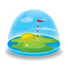 golf field sky vector image vector image