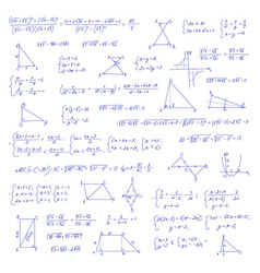 hand drawn mathematical equation vector image