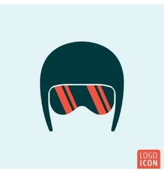 Helmet icon isolated vector