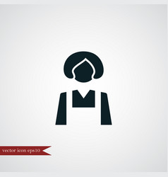 housekeeper icon simple vector image vector image