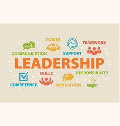 leadership concept with icons vector image vector image