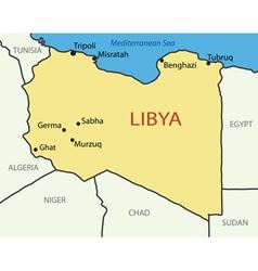 Libya - map vector