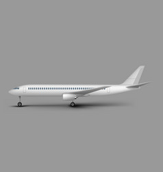 Passenger airplane side view template vector