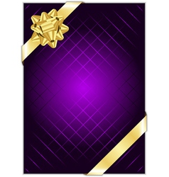 Purple background with gold bow vector