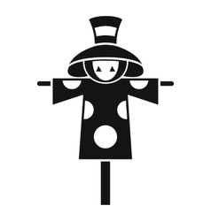 Scarecrow icon simple style vector