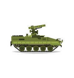 Self-propelled anti-tank missile system research vector
