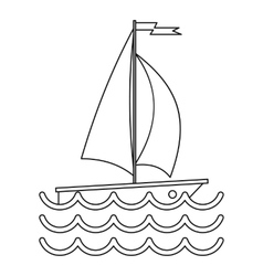 Ship yacht icon simple style vector image vector image