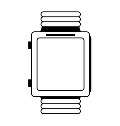 smartwatch with blank screen icon image vector image
