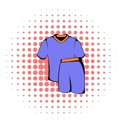 Sport uniform icon comics style vector