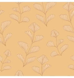 Textured Wooden Branches Seamless Pattern vector image