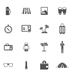 Tourist icons set vector
