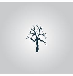 Tree Silhouette icon vector image
