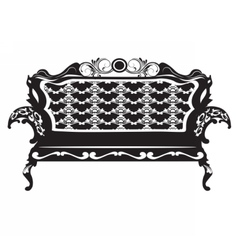 Vintage baroque sofa with ornaments vector