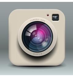 White photo camera icon vector image vector image