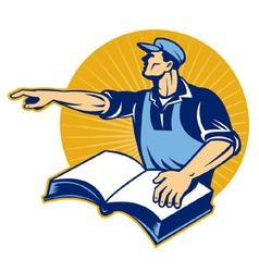 Worker tradesman vector