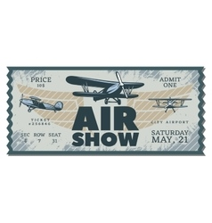 Vintage air show pass ticket vector