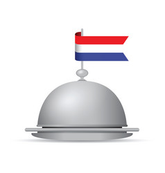 Dutch flag platter vector