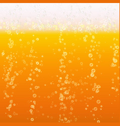 Beer foam background light bright bubble and vector
