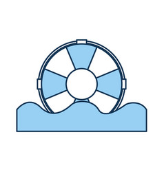 Float lifeguard isolated icon vector
