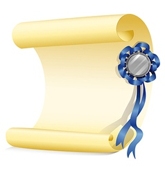 An empty paper with a ribbon vector image