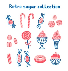 Retro sugar collection vector
