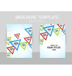 Flyer template back and front design vector