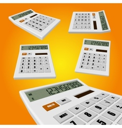 Calculator on an orange background vector