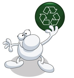 Man recycle vector