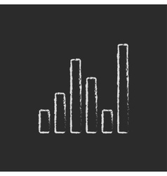 Digital equalizer icon drawn in chalk vector