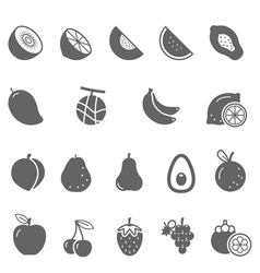 Icon set - fruit vector