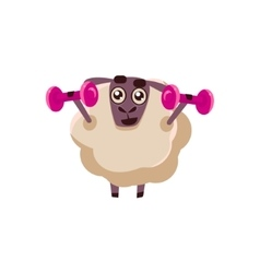 Sheep training in gym vector