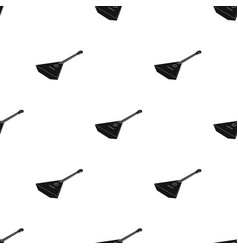 balalaika icon in black style isolated on white vector image vector image