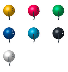 cartoon character billiard ball side view vector image vector image