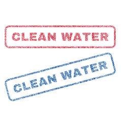 Clean water textile stamps vector