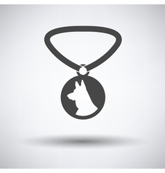 Dog medal icon vector image vector image