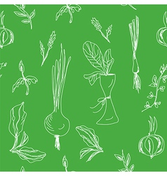 Greens and salad seamless vector image vector image