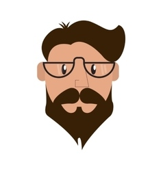 hipster style man cartoon design vector image