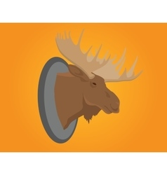 Moose head on the wall vector