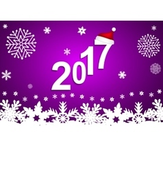 New year 2017 on a purple background with vector