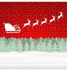 Santa claus riding on a reindeer vector