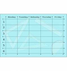 school scheduler with mathematical equipments vector image