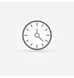 simple clock or time icon vector image vector image