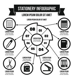 Stationery infographic concept simple style vector