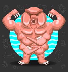 tardigrade water bear vector image vector image