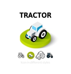 Tractor icon in different style vector