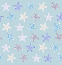 tropical starfishe texture seamless pattern vector image